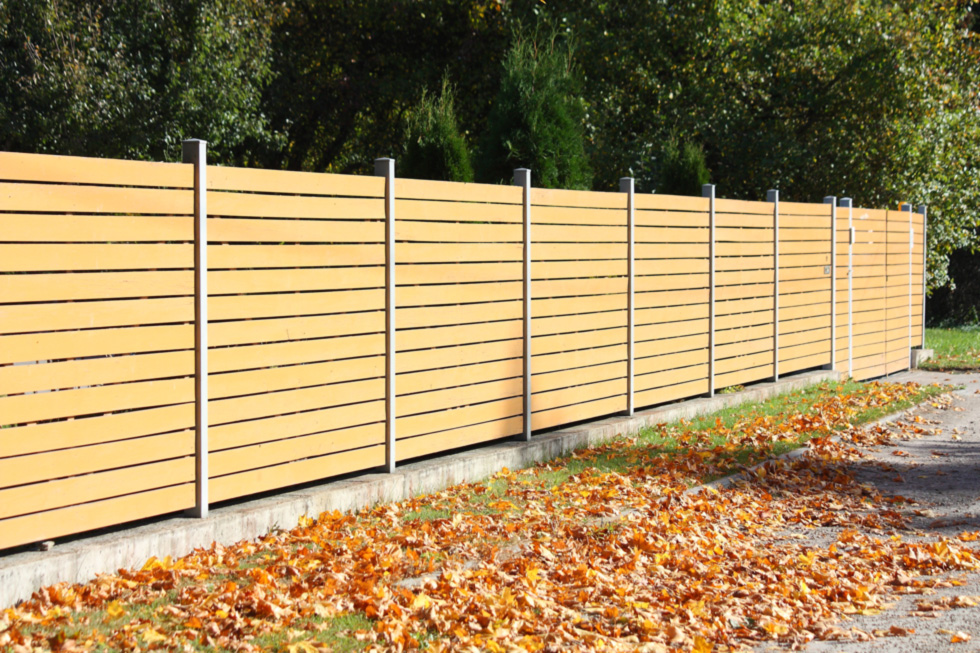 Unique and subtle fence design.
