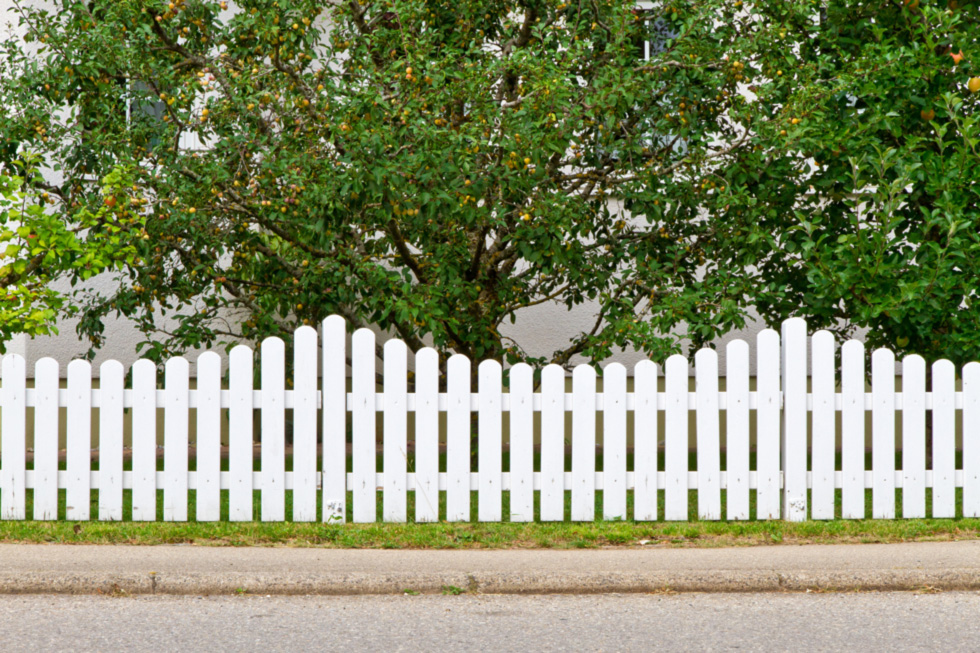 Aesthetically designed fence for added curbside appeal.